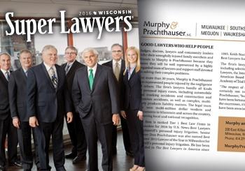 SuperLawyers Award goes to Murphy & Prachthauser