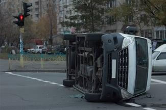 passenger injury in a car crash