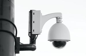 A grocery store security camera, which can come in handy if you are every injured in a grocery store by someone mishandling a motorized shopping cart