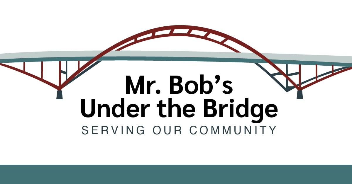Mr. Bobs Under the Bridge Logo for Milwaukee based homeless volunteer and support program