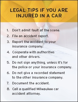 Legal Tips from trusted Milwaukee Car Accident Lawyers