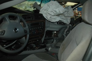 Defective airbags deployed in a minor accident